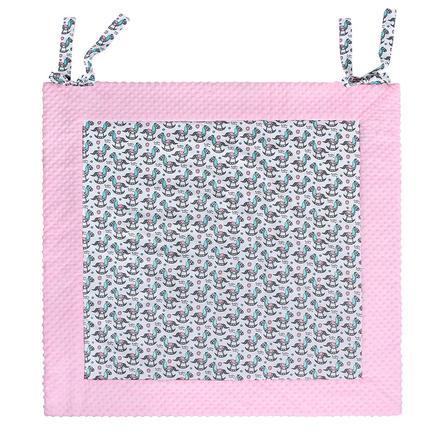 LULANDO Mata do raczkowania Play-Mat Konik na biegunach 150 x 150 cm, różowy
