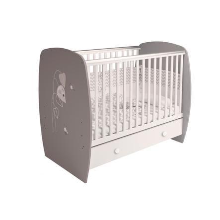 Polini Kids Babybett French 710 Amis grau-weiß