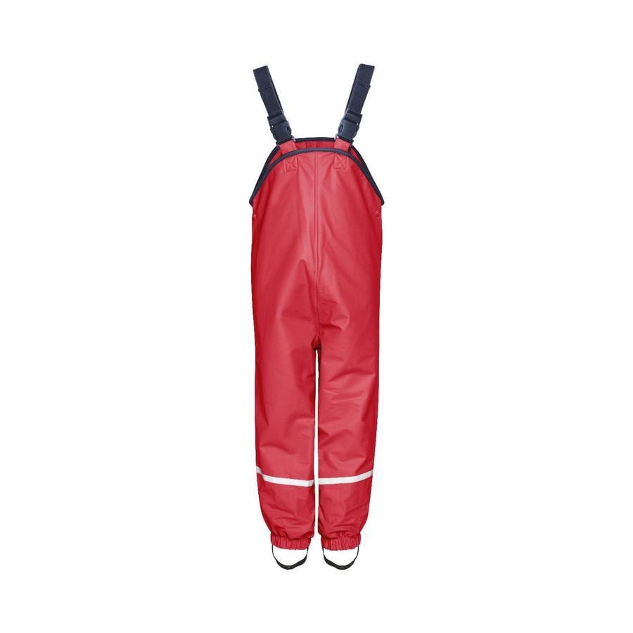 PLAYSHOES Pantalones de lluvia con forro polar – rojo