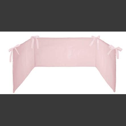 SONNE Tour de lit enfant uni 26x180 cm rose
