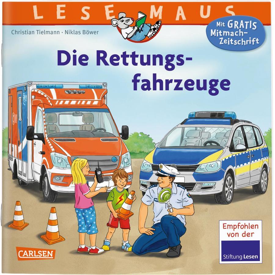 CARLSEN Lesemaus 158: Die Rettungsfahrzeuge (Softcover)