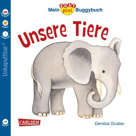 CARLSEN Mein Baby pixi Buggbuch 44: Unsere Tiere