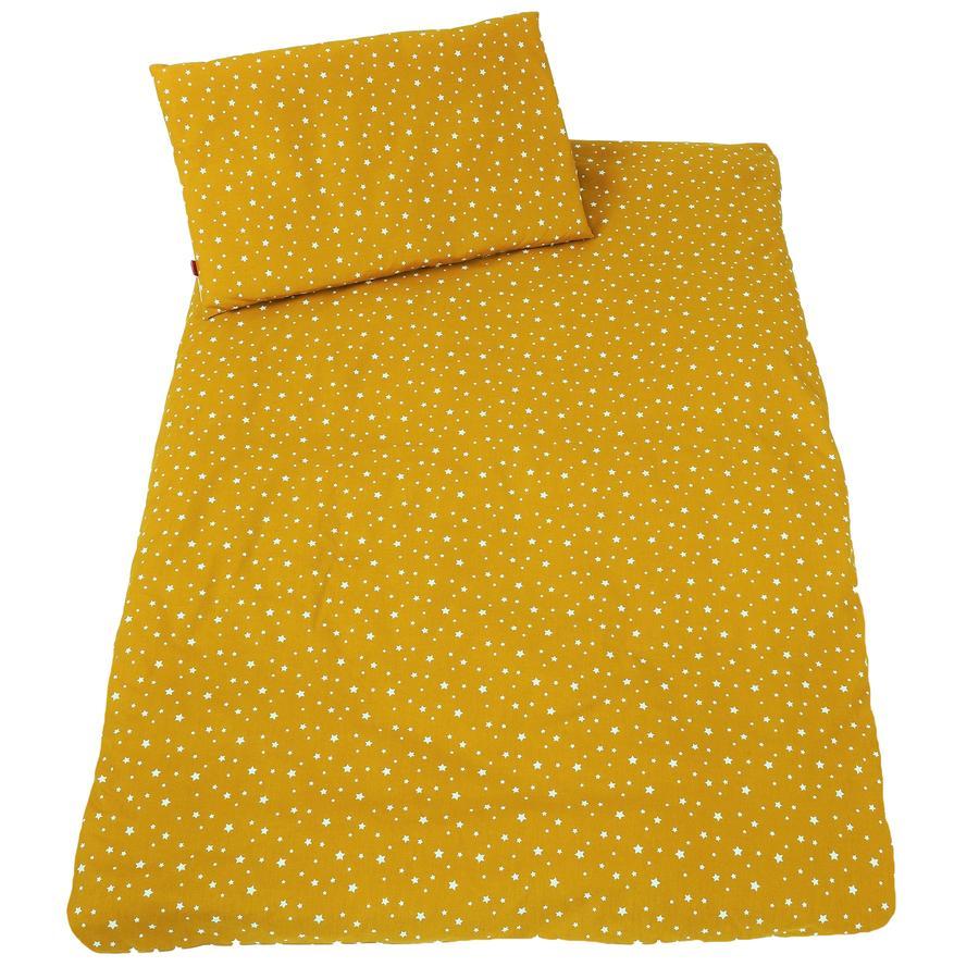 IDEENREICH Biancheria da letto 100 x 135 cm, stelle senape