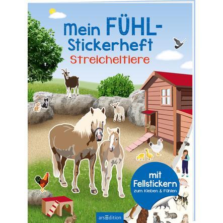 arsEdition Mein Fühl-Stickerheft: Streicheltiere