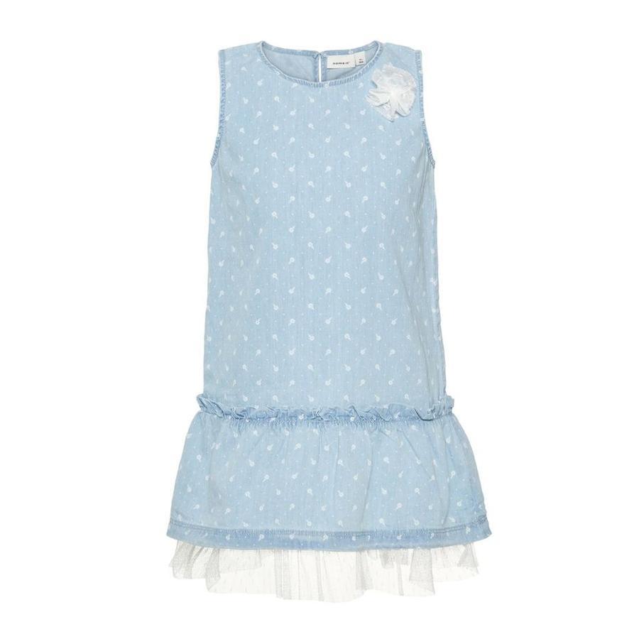 name it Girls Kleid Vida light blue denim