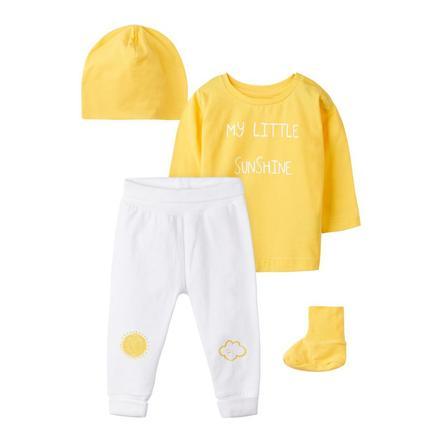 name it Conjunto ropa recién nacido 4 piezas Nbnubbeha amarillo
