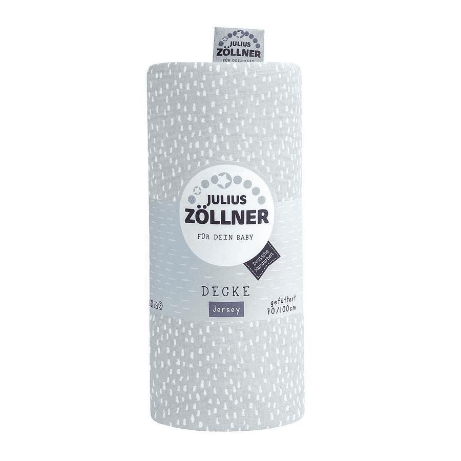 JULIUS ZÖLLNER Jersey přikrývka Tiny Square s šedá 70 x 100 cm
