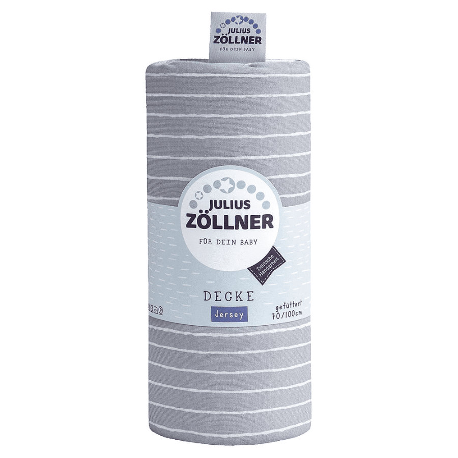 JULIUS ZÖLLNER Jersey přikrývka Gray Stripes 70 x 100 cm