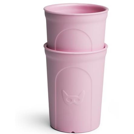 Herobility Drikkeglass Eco Toddler Glass 2 x 140 ml rosa