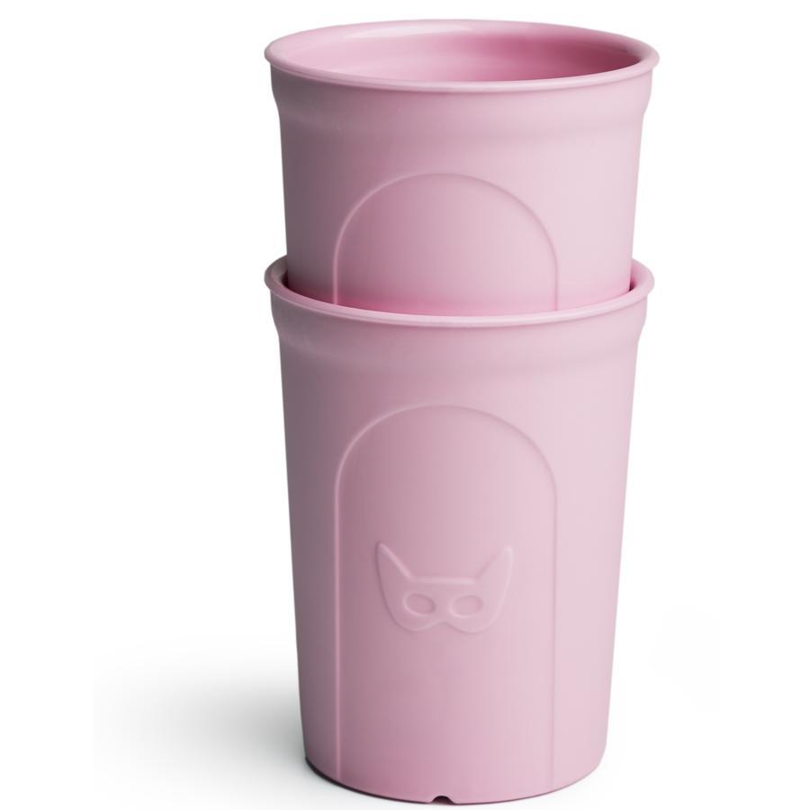 Herobility Bicchiere HeroEcoGlass 2x140ml pink