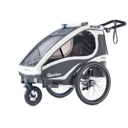 Qeridoo® Przyczepka rowerowa Kidgoo1 antracyt
