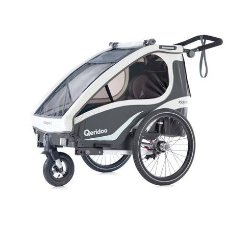 Qeridoo® Remolque para bicicleta Kidgoo1 Antracita