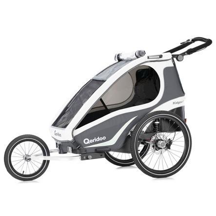 Qeridoo® Kinderfahrradanhänger Kidgoo1 Sport Anthrazit