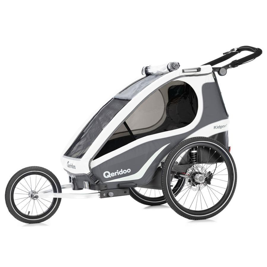 Qeridoo® Remorque vélo enfant Kidgoo1 Sport anthracite