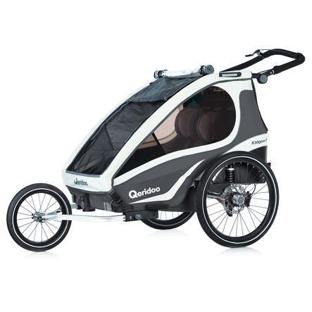 Qeridoo® Kinderfahrradanhänger Kidgoo2 Sport Anthrazit