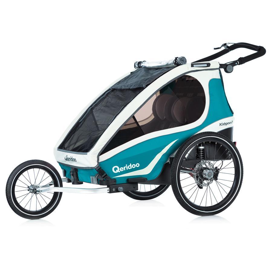 Qeridoo® Kinderfahrradanhänger Kidgoo2 Sport Aquamarin