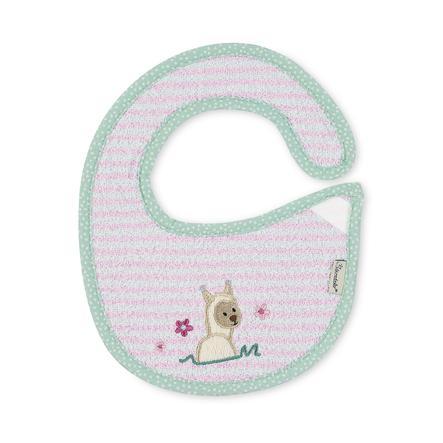 Sterntaler Baby Plastic Velcro Bib Lama Lotte mandlový květ