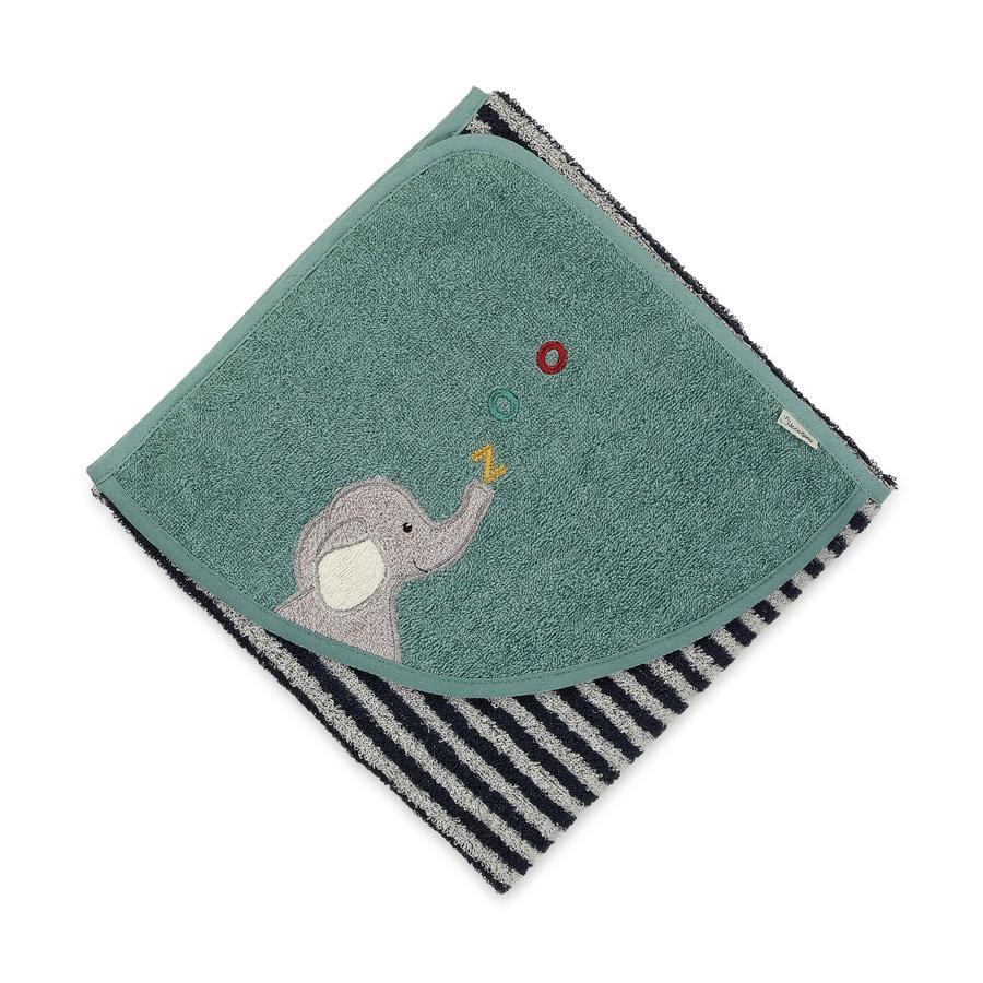 Sterntaler asciugamano da bagno Kuschelzoo marine 80 x 80 cm