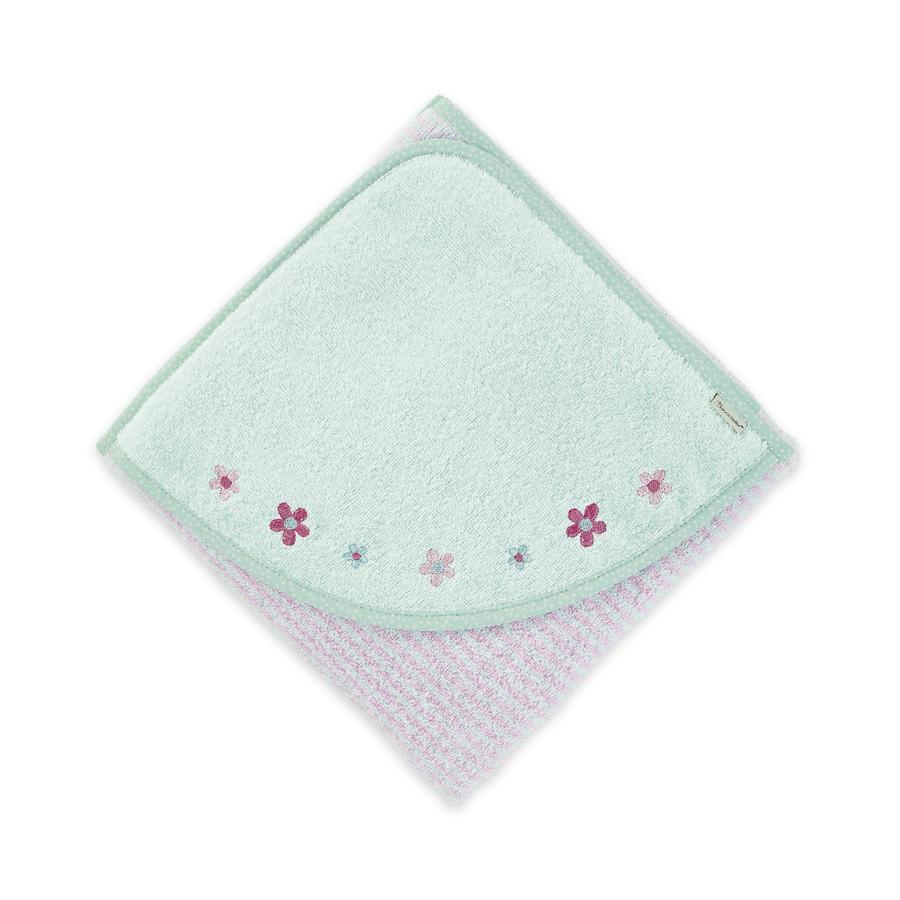 Sterntaler Ręcznik kąpielowy Kuschelzoo Lotte kwiat migdałowy 100 x 100 cm