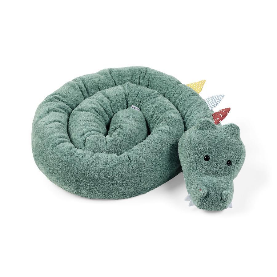 Sterntaler Tour de lit traversin enfant original crocodile Konrad vert 180 cm