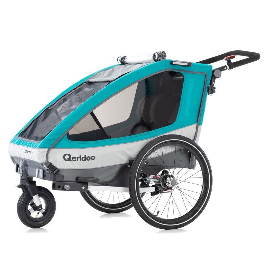 Qeridoo® Kinderfahrradanhänger Sportrex1 Aquamarin