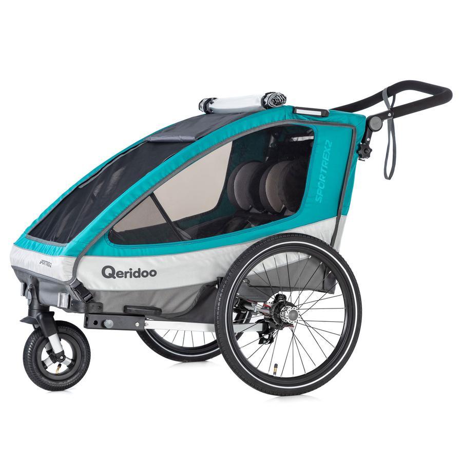Qeridoo® Rimorchio per bicicletta Sportrex2 Aquamarin