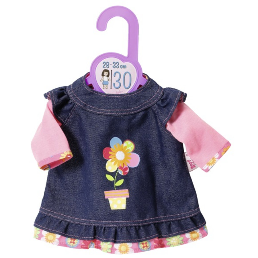 Zapf Creation Dolly jeansskjole, 30cm