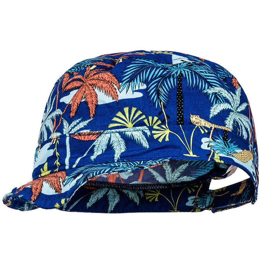 maximo Boys Tellercap Palms Real Blue Terracotta