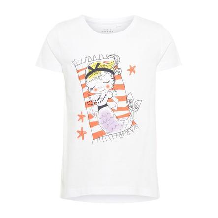name it Girls T-Shirt Violet bright white