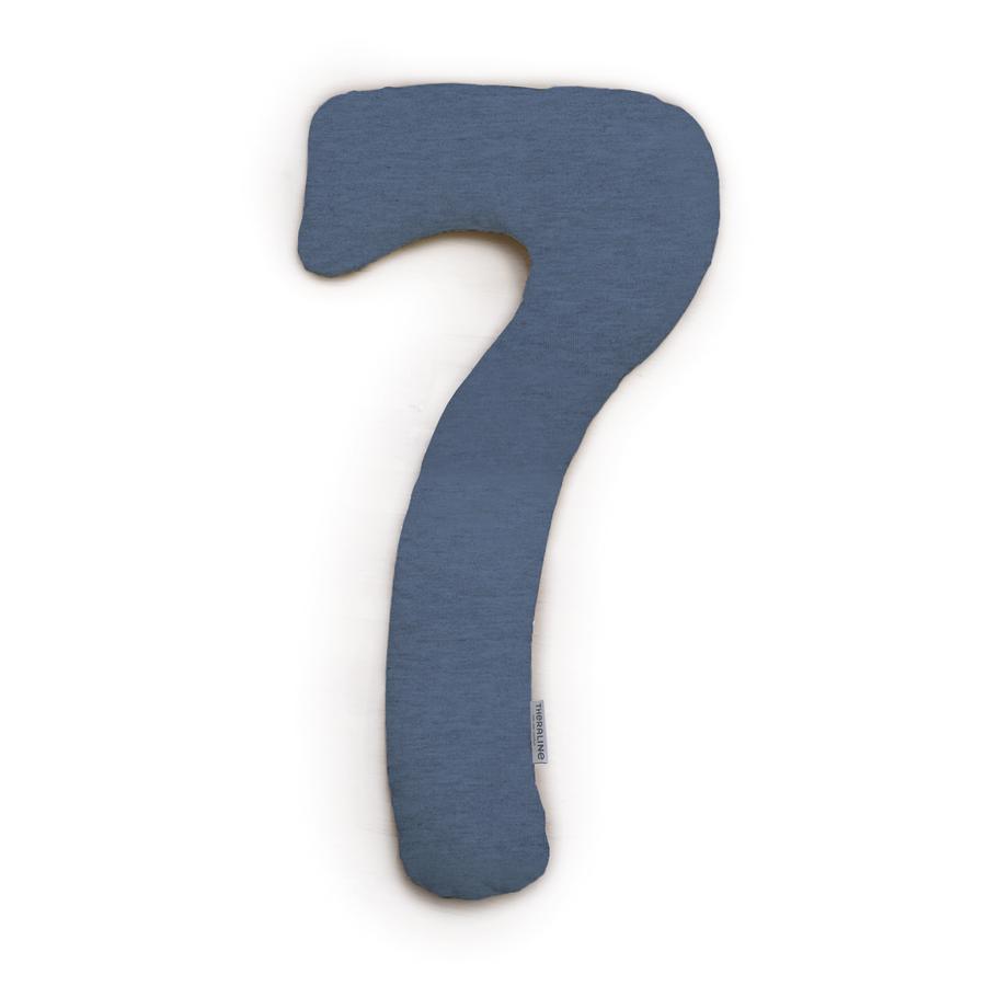 THERALINE Bezug für my7 Seitenschläferkissen Jersey melange navyblau