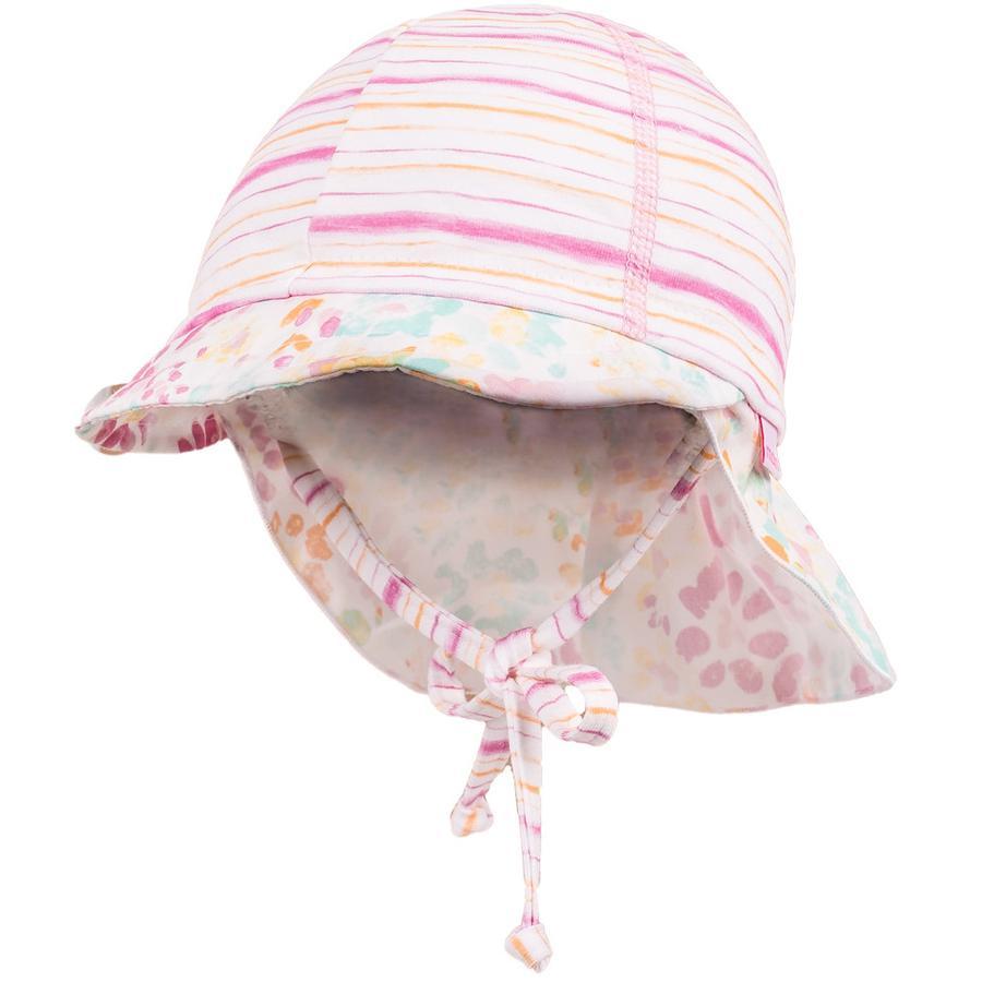 maximo Girls Schildmütze Streifen kürbis-pink