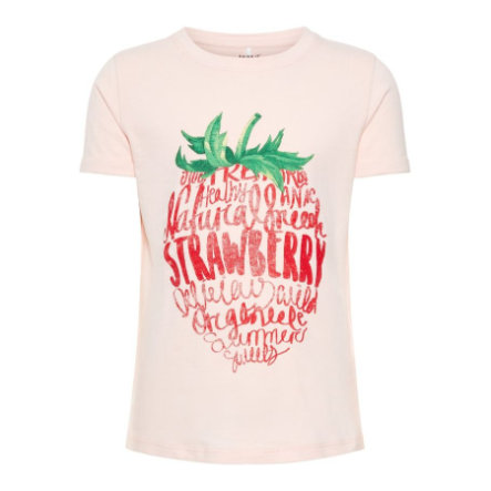 name it Girl s T-Shirt Sigrid truskawkowy krem z truskawek