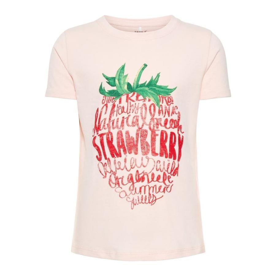 name it Girl s Crema de fresa T-Shirt Sigrid