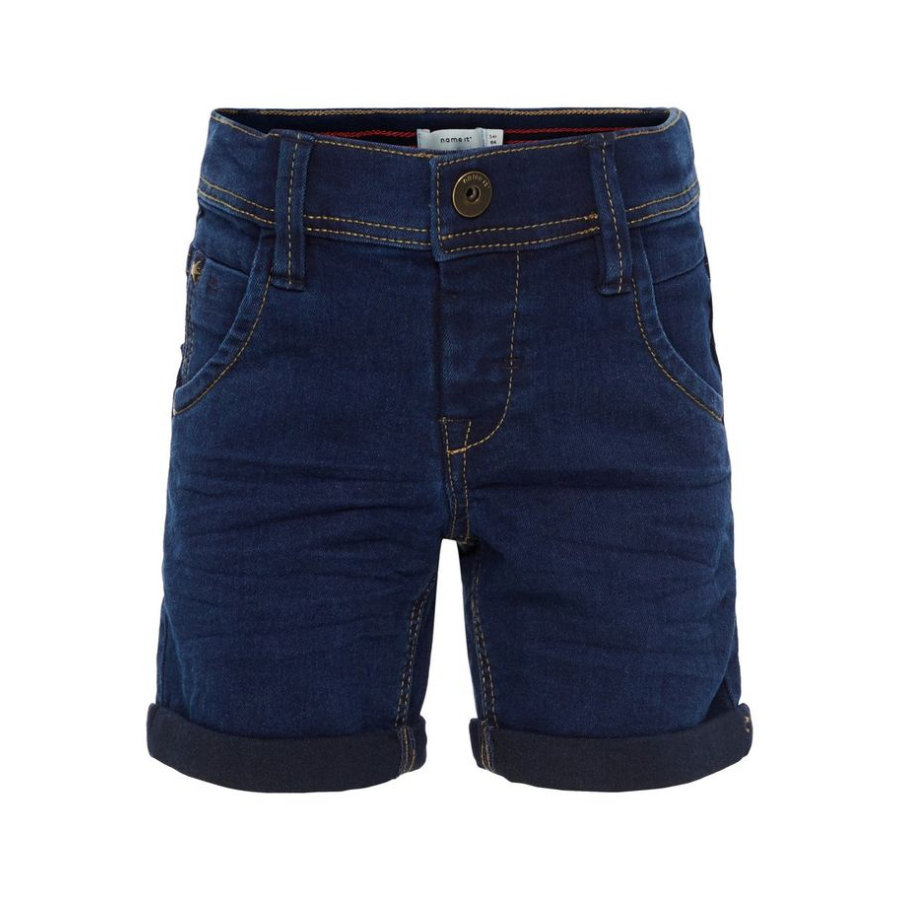 name it Boys Jeans Shorts Ryan, ciemno-błękitny denim.