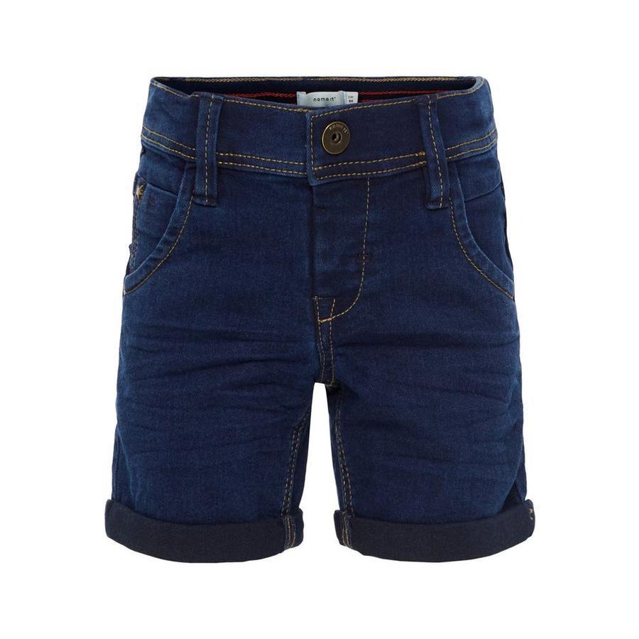 name it Boys Jeans Shorts Ryan dark blue denim
