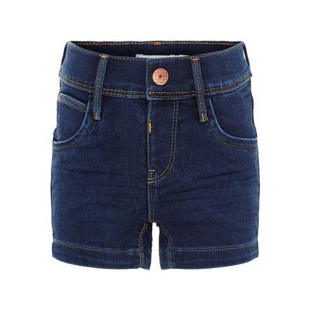 name it Girls Jeans Shorts Salli dark blue denim