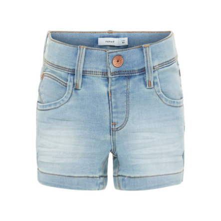 name it Girl s Pantalones cortos Salli azul claro denim
