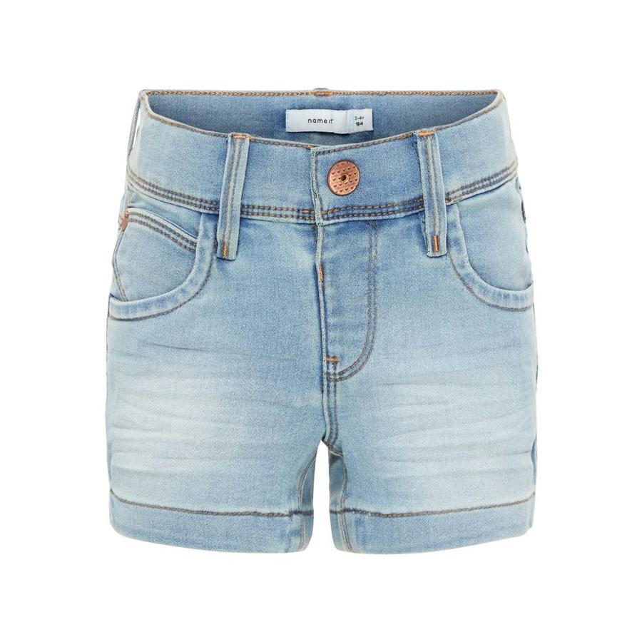 name it Girl s Jeans Shorts Salli jean bleu clair