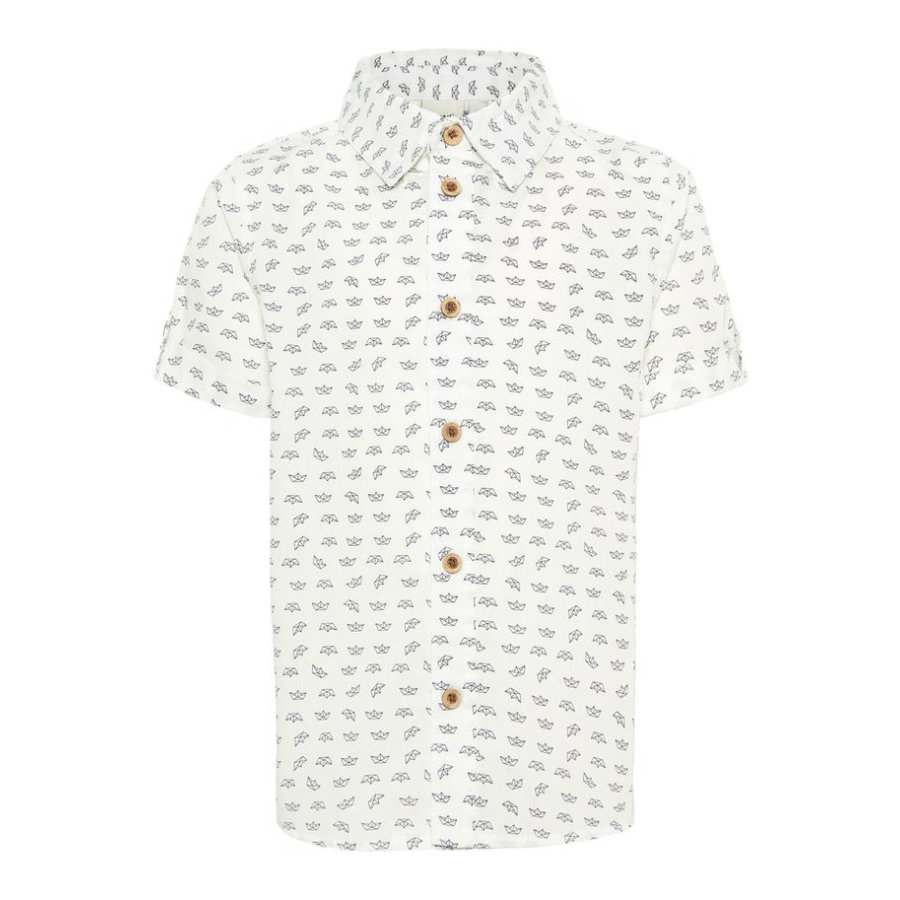 name it Boys Camisa Steve blanco brillante