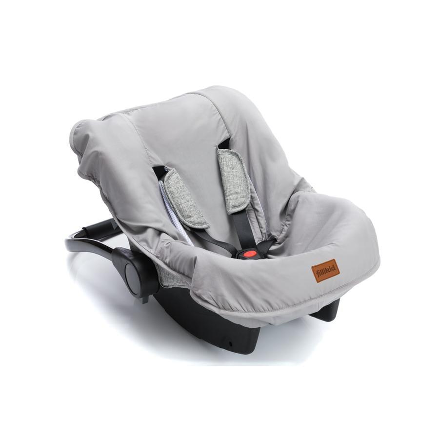 fillikid trekk til babybilstoler lys grå