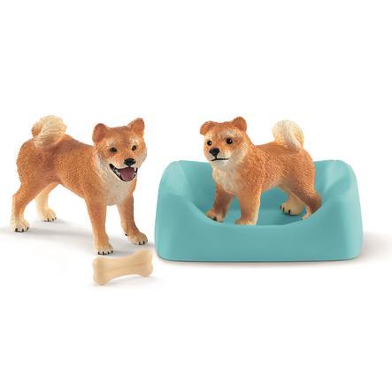 Schleich 42472 Loup mère AVEC CHIOTS