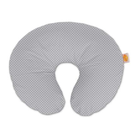 THERALINE Wynnie - americký polštář na kojení vřetně potahu s puntíky šedý