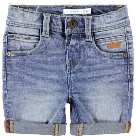 name it Boys Shorts Sofus light blue denim