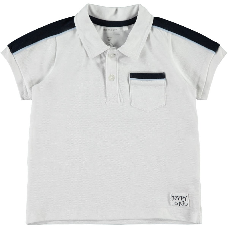 name it Boys Polo Blanco Brillante