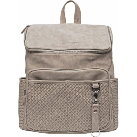 Little Company Wickelrucksack Lisbon Braided Traupe