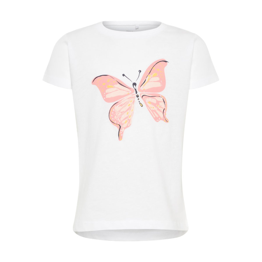 name it Girls T-Shirt Via bright white