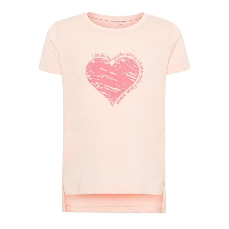 name it Girls T-Shirt Via strawberry cream