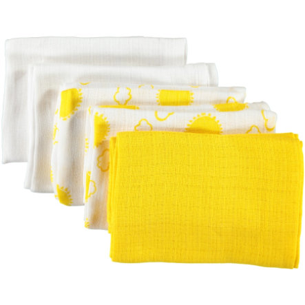 name it panni di garza Nappies 5er-Pack bright white 70 x 70 cm