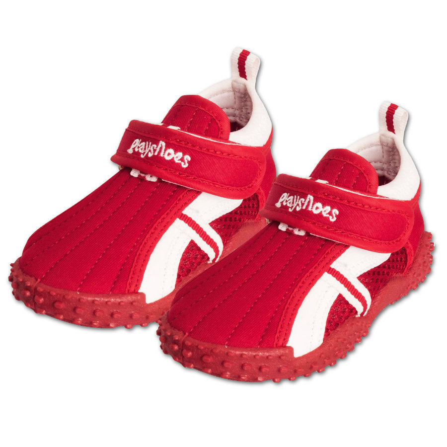 PLAYSHOES Chaussures de bain protection UV 50+ rouge sportive