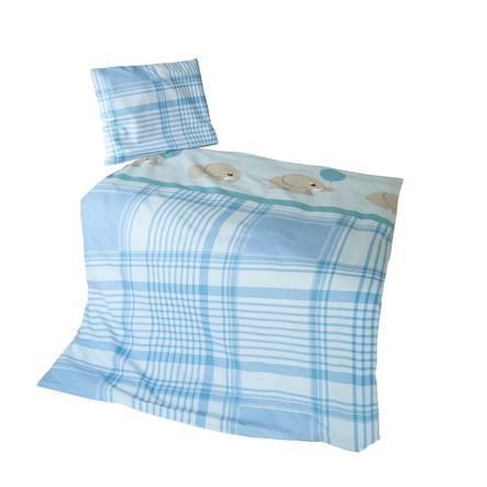 Kiddi Kid®  biancheria da letto blu elefante 100x135 cm